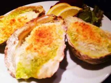 牡蠣のガーリックバターオーブン焼き