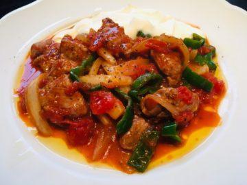 ラム肉のトルコ風トマト炒め