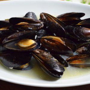 ムール貝のヒューガルデン蒸し
